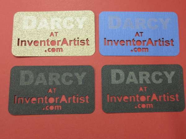 Inventorartist sandpaper business cards ive made other cool business cards but i really like the sandpaper ones i suppose some people might use them as a nail file reheart Gallery