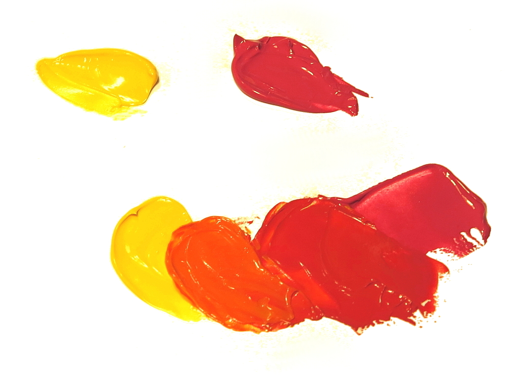 Colors Red And Yellow Make Images