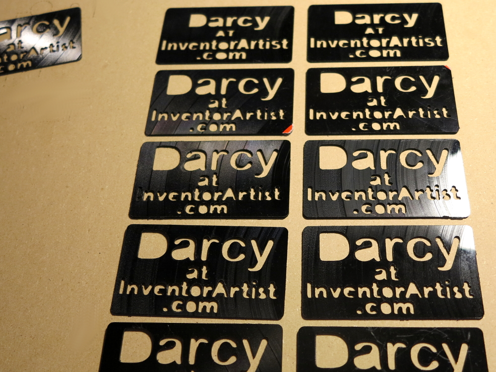 inventorartist business cards from lp records