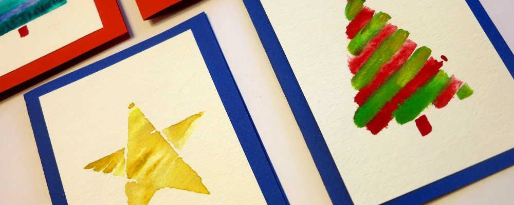 Water Color Christmas Cards