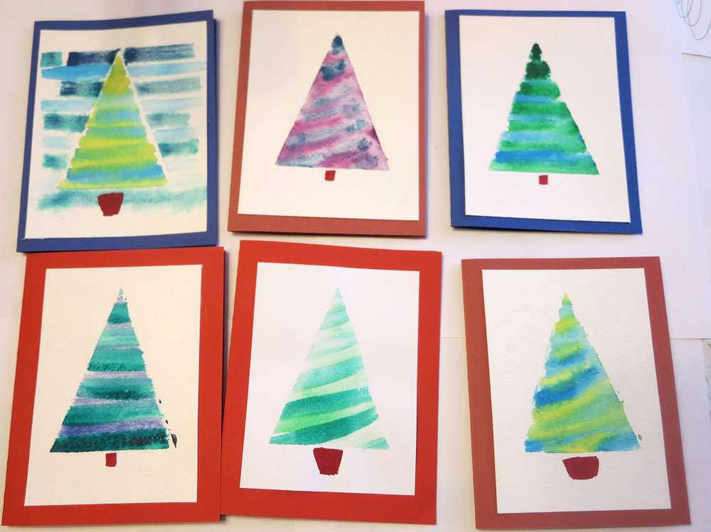 Inventorartist 187 Watercolor Christmas Cards