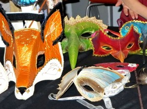 Masks from Celeste and Jacob from La Petite Masquerade.