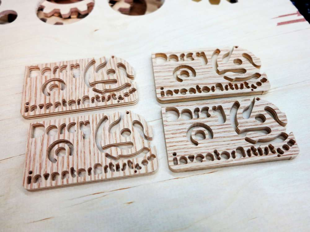 Inventorartist wooden business cards the record spindle design come from my vinyl business card project these ones are cut using a cnc rotary cutter instead of colourmoves