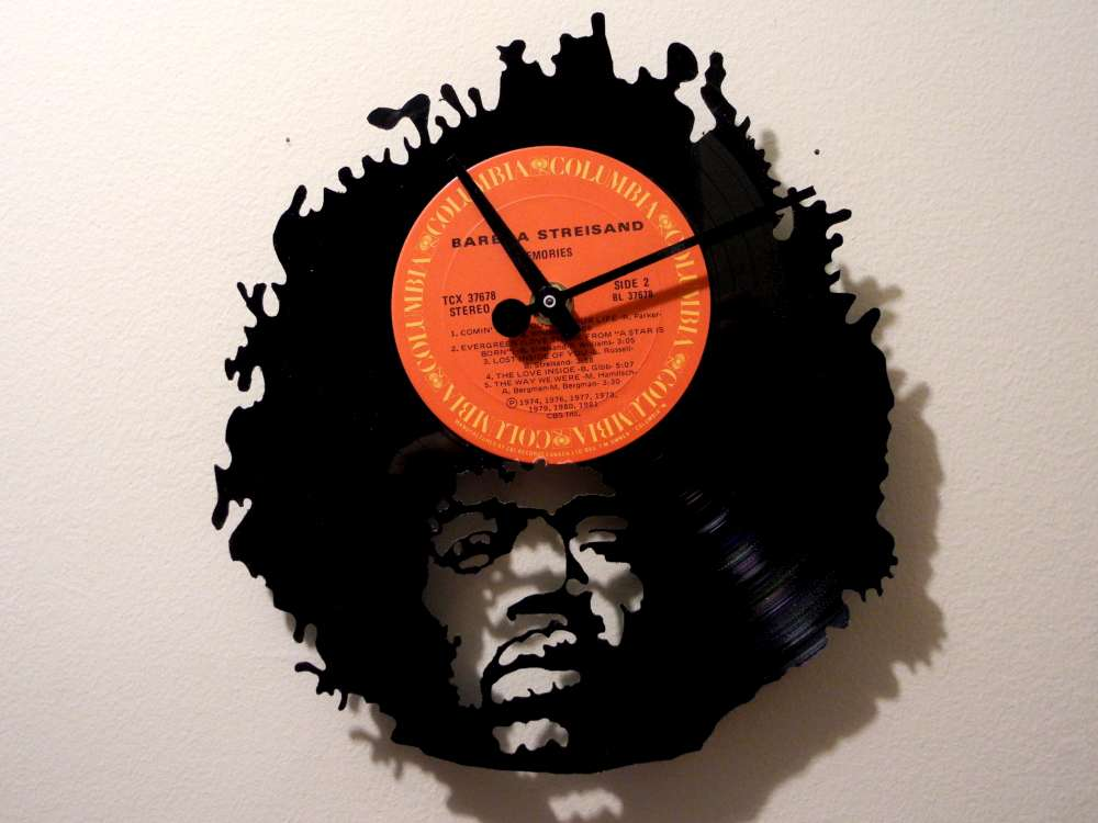Jimmy Hendrix Record Clock More vinyl clocks.