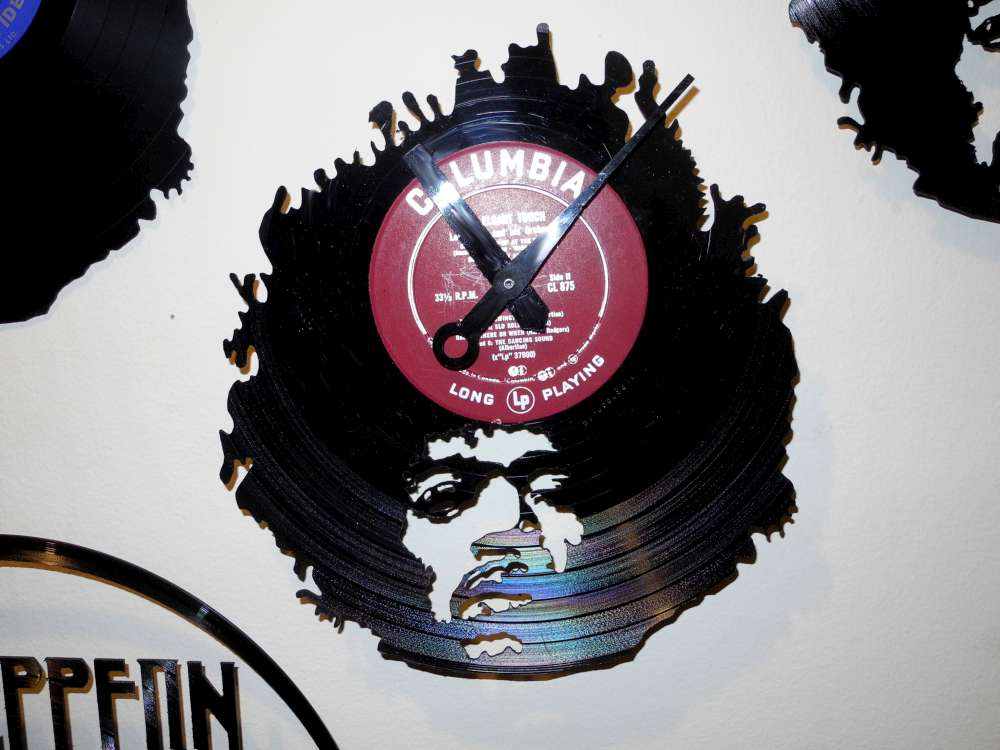 Jimmy Hendrix Record Clock