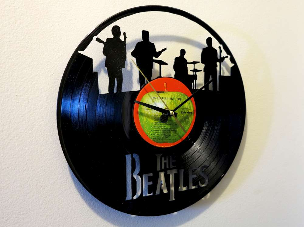 Inventorartist 187 Beatles Record Clock