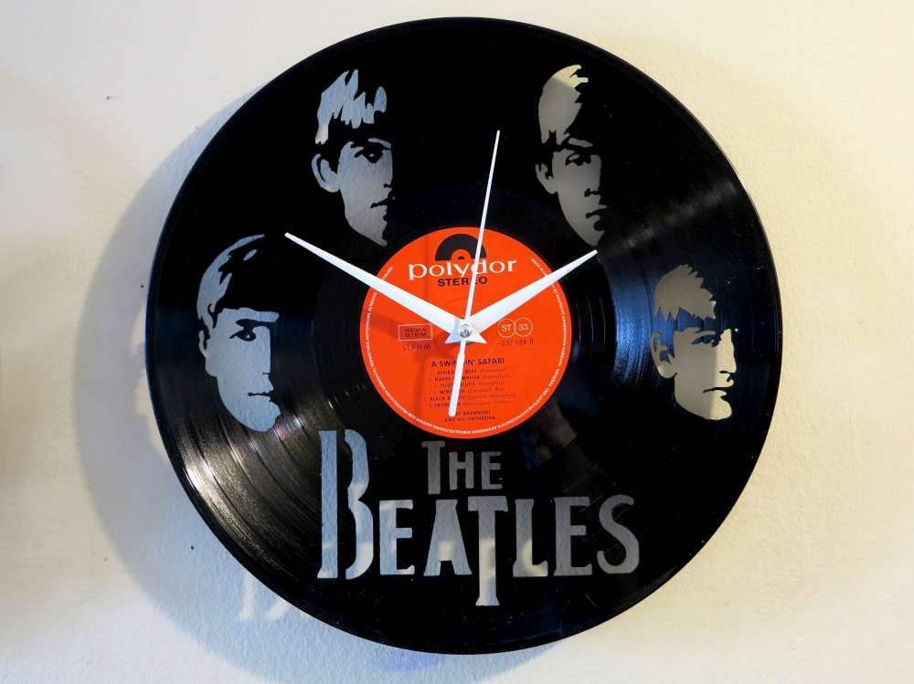 Inventorartist 187 With The Beatles Vinyl Clock