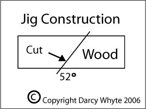 A wooden jig could be used to make the outer stones. Then the stones could be lined up using a straight edge.